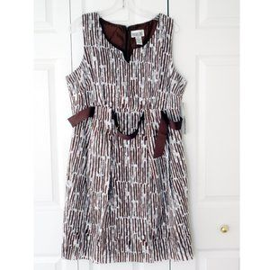 Robbie Bee White & Brown Sundress, size 16